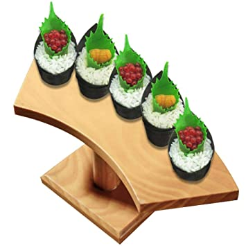 Augproveshak - Estante de Madera para cocinar con 5 Agujeros, diseño de Sushi Sashimi: Amazon.es: Hogar