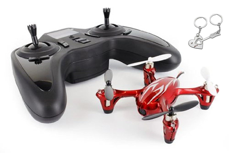 HUBSAN H107C dron con cámara Rojo, Blanco 4 rotores - Drones con ...