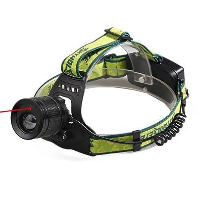 LED Lampe frontale Phare Extérieure Enseignement Nuit Vélo Lampe Infrarouge Lumière Réglable Focus Rechargeable ( Color : Black )