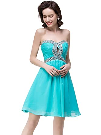 Babyonline Pleated Chiffon Cocktail Party Dresses for Women Short Formal Gowns