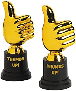 Fun Express - Thumbs Up Award Trophies - Stationery - Awards - Trophies & Awards - 12 Pieces