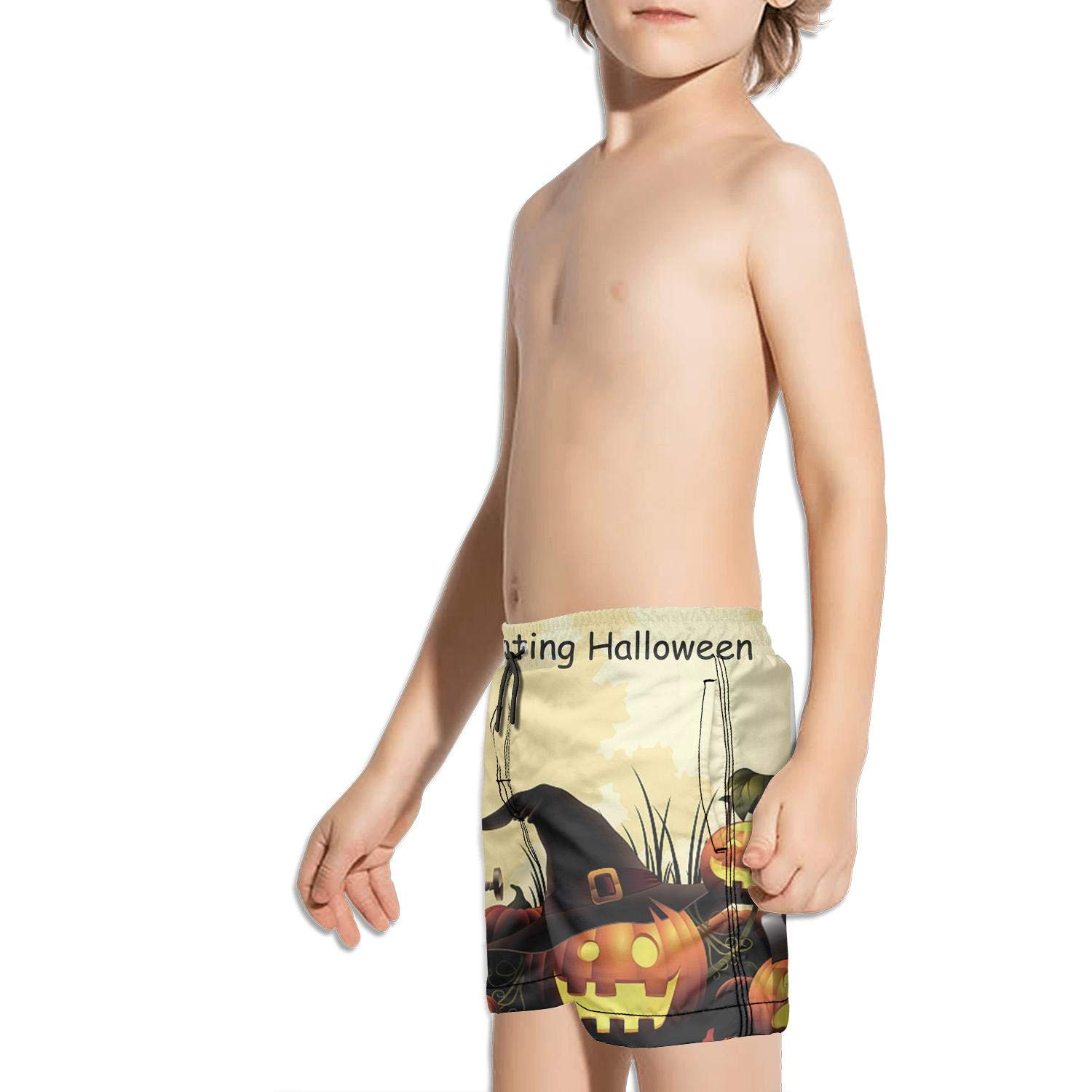 Boys Quick Dry Beach Board Shorts Happy Hanukkah-7 Kids Swim Trunks with Mesh Lining