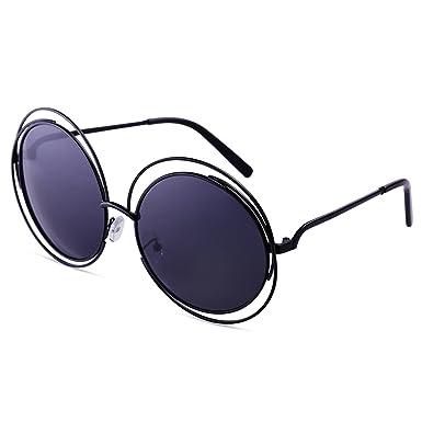 89f057554f5fd2 Dollger - Oversized Double Circle Frame - Lunettes de soleil rondes à  découpes Fashion Designer