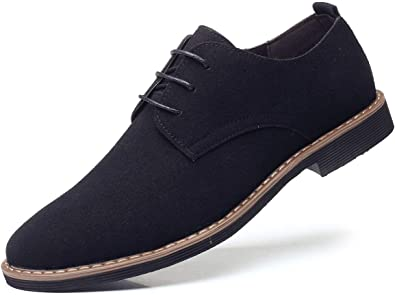 Suede Dress Shoes Casual Lace Up
