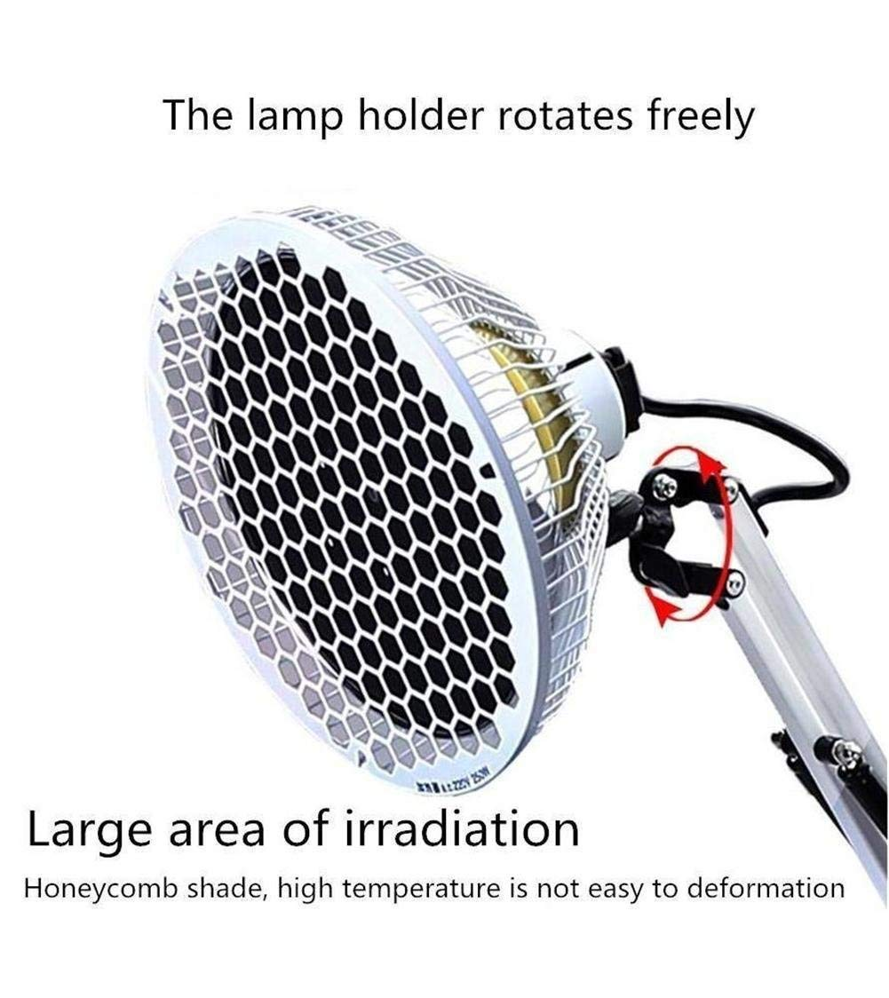 XYYMC Infrared Lamp 250W TDP Physiotherapy Infrared Heat Lamp-Electromagnetic Wave-Heat-Light Pain Relief by XYYMC (Image #4)