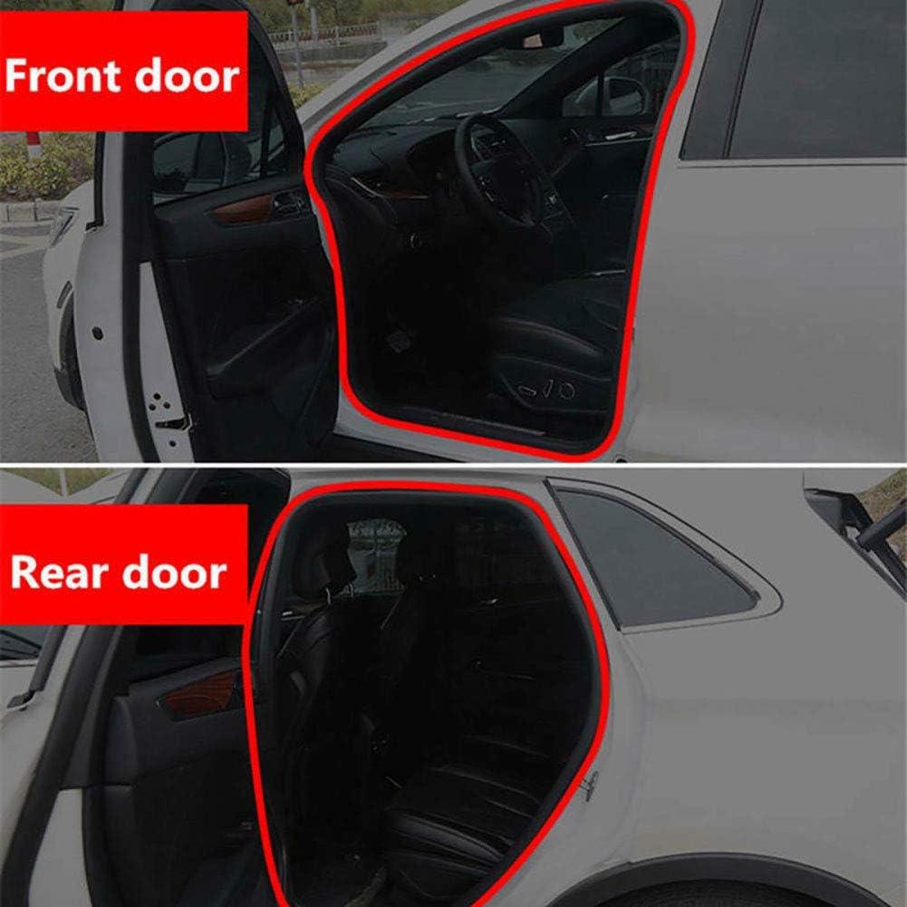 turkeybaby Car Door Seal Strip 5M L-Type Thicken Car Door Hood Trunk Edge Sound Insulation Rubber Seal Strip