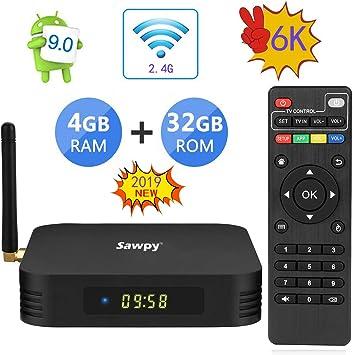 Android 9.0 TV Box TX6 TV Box 4GB RAM Allwinner H6 up to 1.5 GHz Quad Core Arm Cortex-A53 6K BT 5.0 Smart TV Box (32GB 2.4Ghz WiFi): Amazon.es: Electrónica