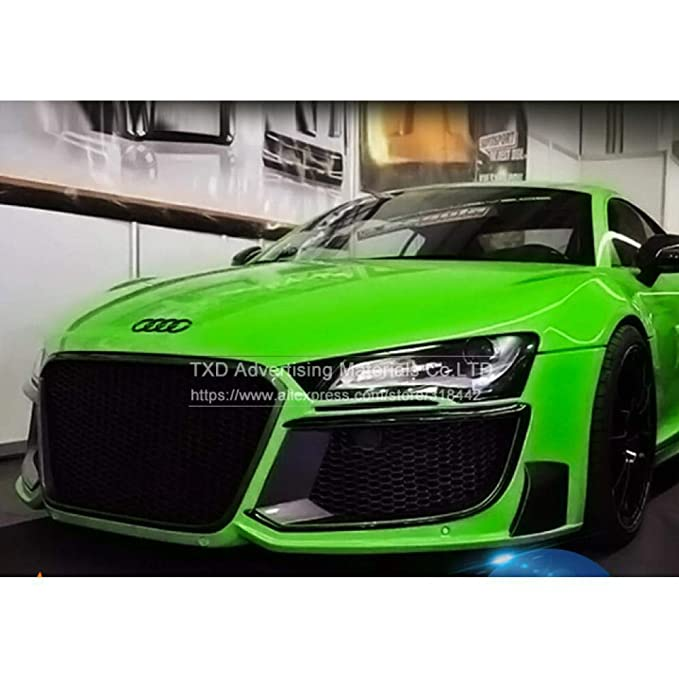 Amazon.com: 7 Sizes Car Styling Glossy Green Fluorescent Car ...