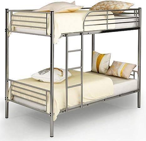 BADA Shop - Litera de metal separada para cama individual o doble, escalera para niños, adolescentes, adultos,