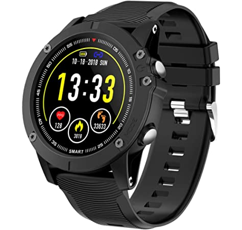 e03ac9b88a14 HolyHigh Reloj Inteligente Bluetooth Impermeable IP68 Pulsera de Actividad  1.3 Pulgadas Pantalla con Monitor de Ritmo