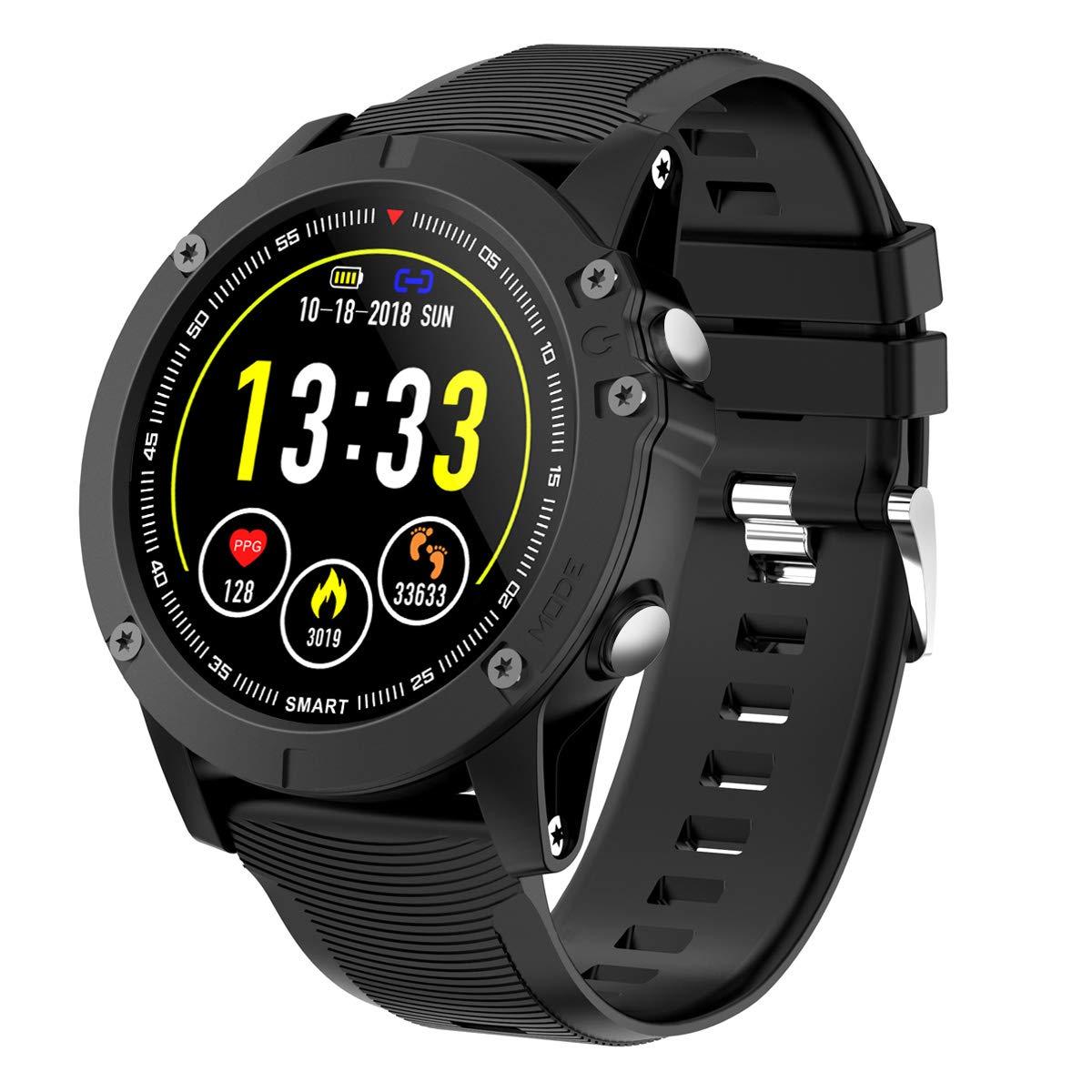 HolyHigh Reloj Inteligente Smart Watch Impermeable IP68 Reloj Deportivo Pulsera de Actividad Inteligente Hombre Mujer 1.3