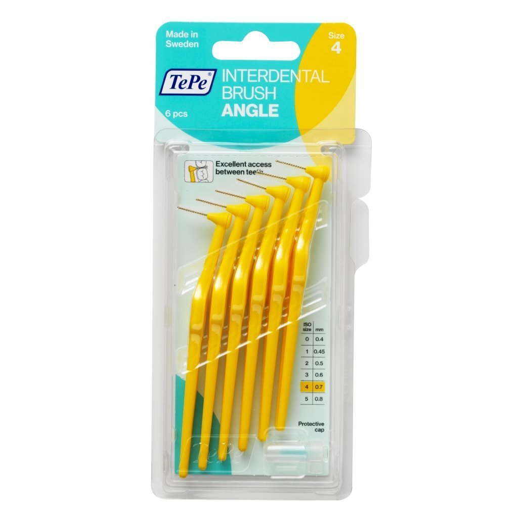 Tepe Angle Brush 0.75mm YELLOW (6 brushes per pack) TEPE PRODOTTI IG.ORALE Srl 7317400011592
