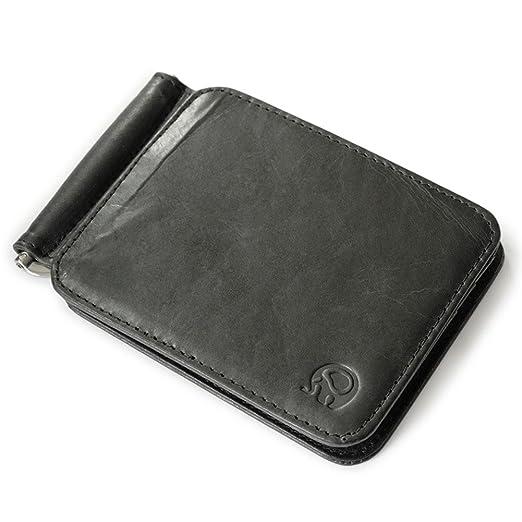 Halova mens leather money clip credit cards case business cards halova mens leather money clip credit cards case business cards holder billfold wallet colourmoves