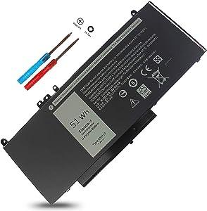 G5M10 E5550 E5450 E5250 Battery Compatible with Dell Latitude E5550 E5450 E5250 5550 5450 5250 3150 3160, 8V5GX R9XM9 1KY05 08V5GX VMKXM 5XFWC PF59Y 451-BBLN 451-BBLL 451-BBLK 51Wh 7.4V 4-Cell