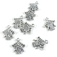 Antique Silver Tone Jewelry Making Charms Findings Lots SC2990 Knitting
