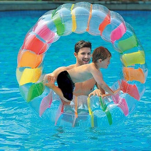 Rueda inflable juguete de agua Crawling Rueda Cilindro Piscina ...