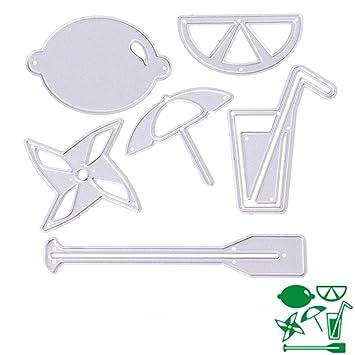 Bottone DIY Metal plantillas de corte plantilla para molde para DIY álbum de recortes, diseño de tarjeta de papel Craft Decoración (frutas plato): ...