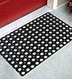 Online Quality Store Rubber Door Mat Single Pcs Black (Size = 16*24 Inches, Material Rubber)