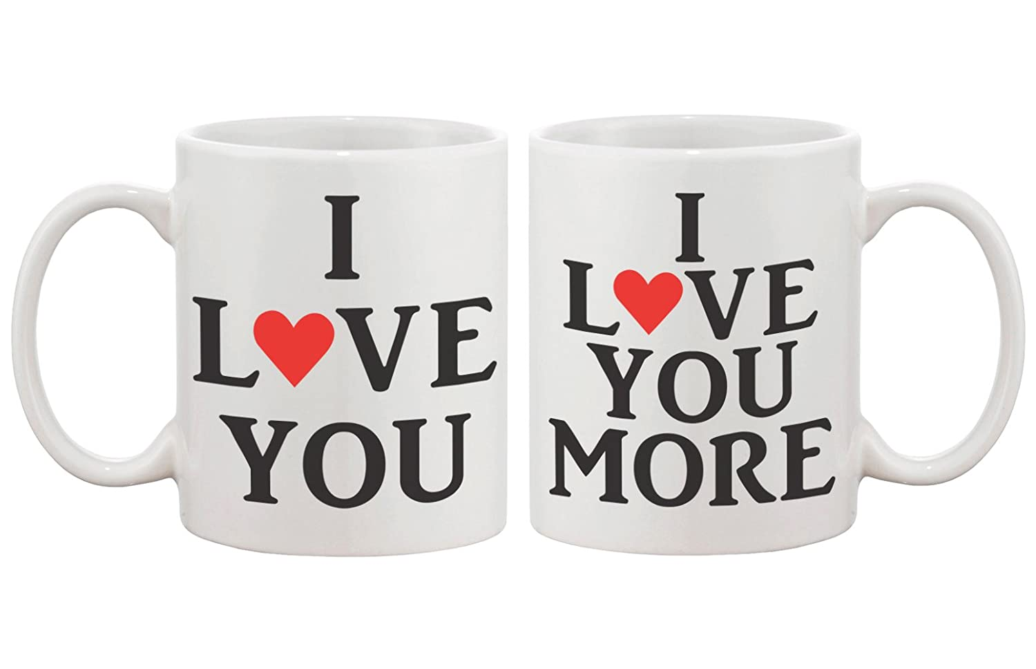 Amazon.com   I Love You Matching Coffee Mugs   Perfect Wedding, Engagement,  Anniversary, And Valentines Day Gift For Couples: Coffee Cups U0026 Mugs