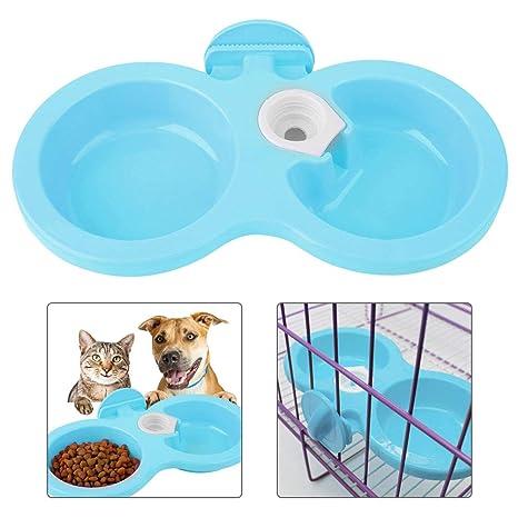 Alimento Doble Comedero de Agua para Mascotas Tazón para Mascotas ...