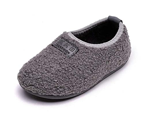 Elcssuy Kids House Slippers Household Soft Comfortable Anti-Slip Indoor  Outdoor Bedroom Slippers for Girls and Boys(Toddler/Little Kid)