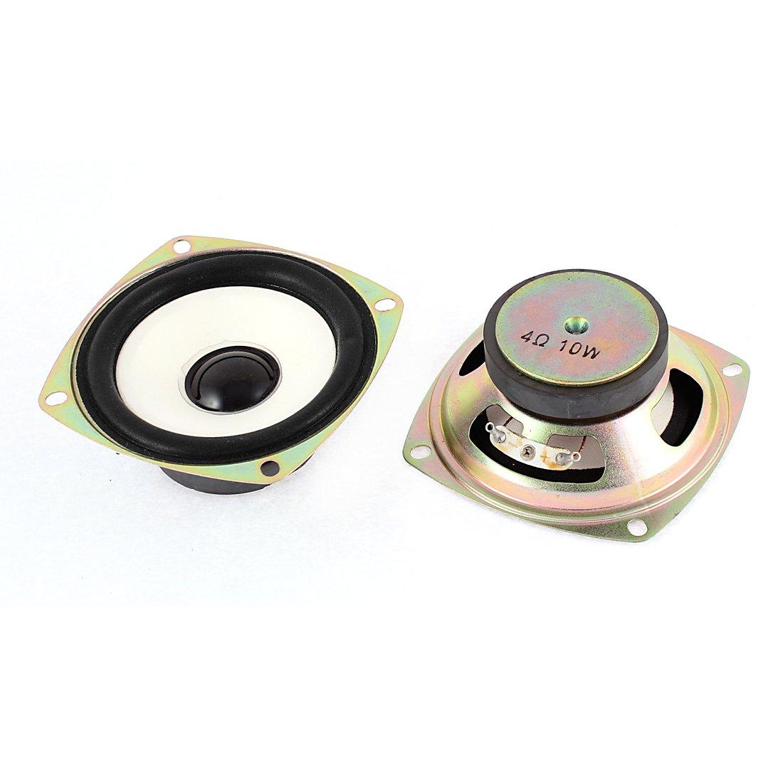 uxcell 10W 4 Ohm External Magnet Speaker Loudspeaker 75mm x 30mm 2Pcs