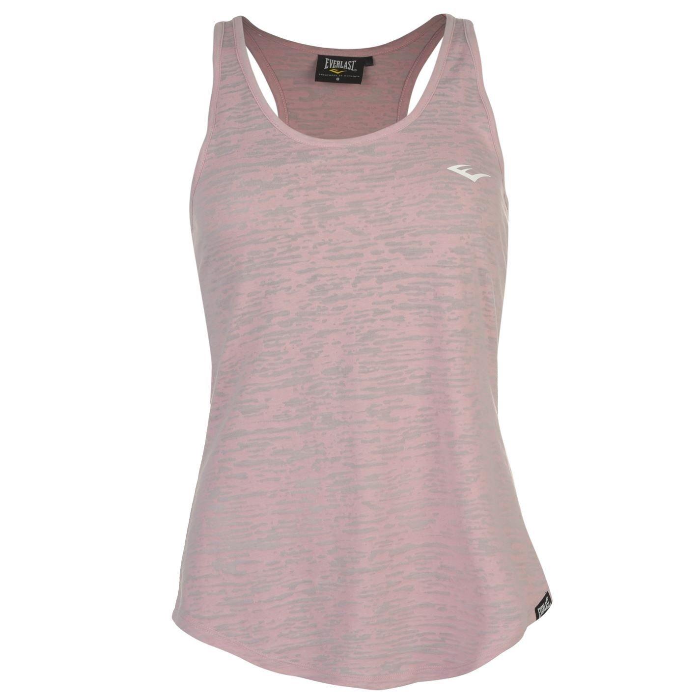 Everlast Womens Burn Vest Tank Top Lightweight Racer Back Print Sleeveless:  Amazon.co.uk: Clothing