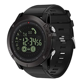 Equickment Montre chronomètre pour Homme Montre connectée Zeblaze Vibe 3 Bluetooth Sports de Plein air Montre