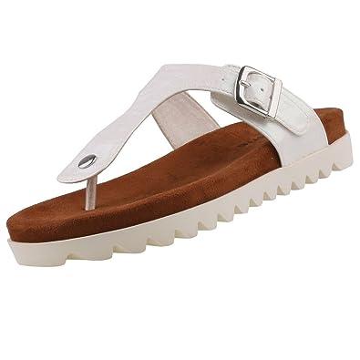 Tamaris Damen Zehentrenner Weiß, Schuhgröße:EUR 37