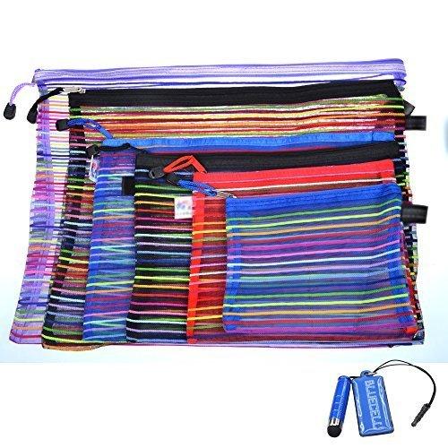 Nakimo set of 6pcs Random Color Mesh Multipurpose Travel Storage Organizer Bag -