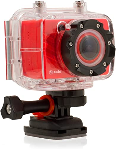 Nabi CAMERA1-06-FA12 Red Nabi Look HD Waterproof Digital Camera, Red