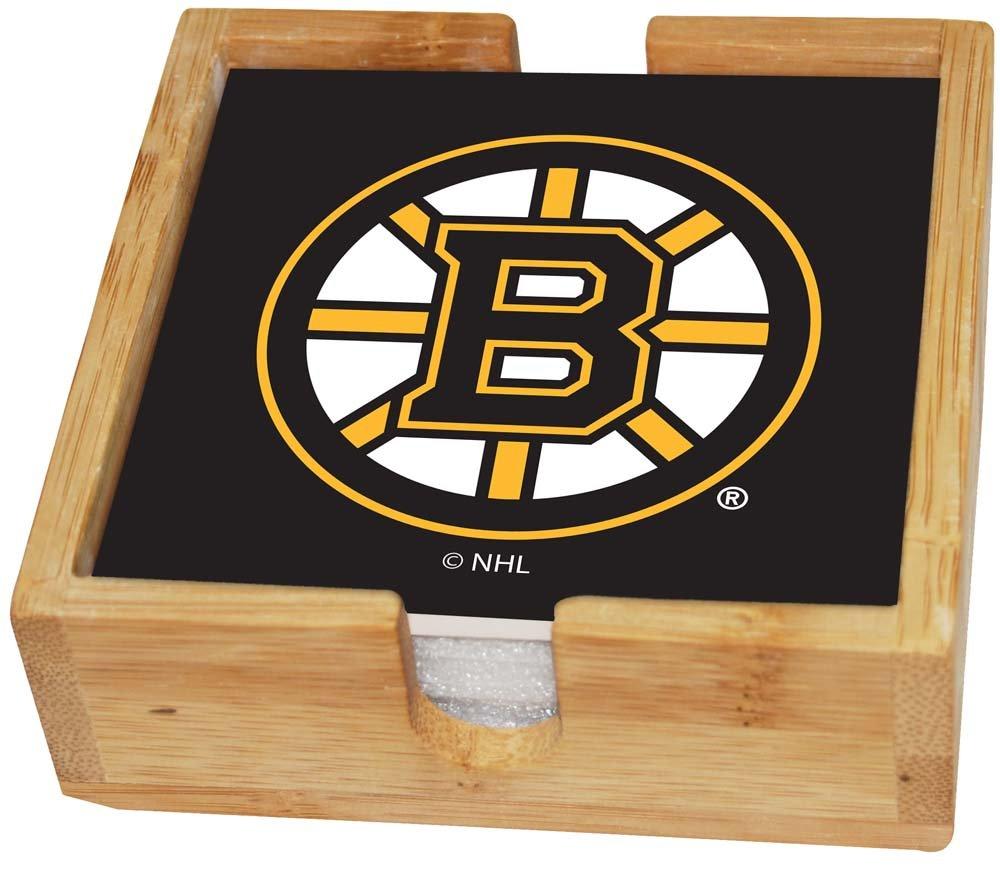 One Size Multi Memory Company NHL Boston Bruins NHL-Bbr-2403Square Coaster Set