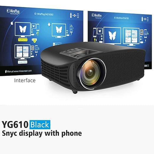KAIDILA Proyector, YG600 actualización YG610 HD proyector ...