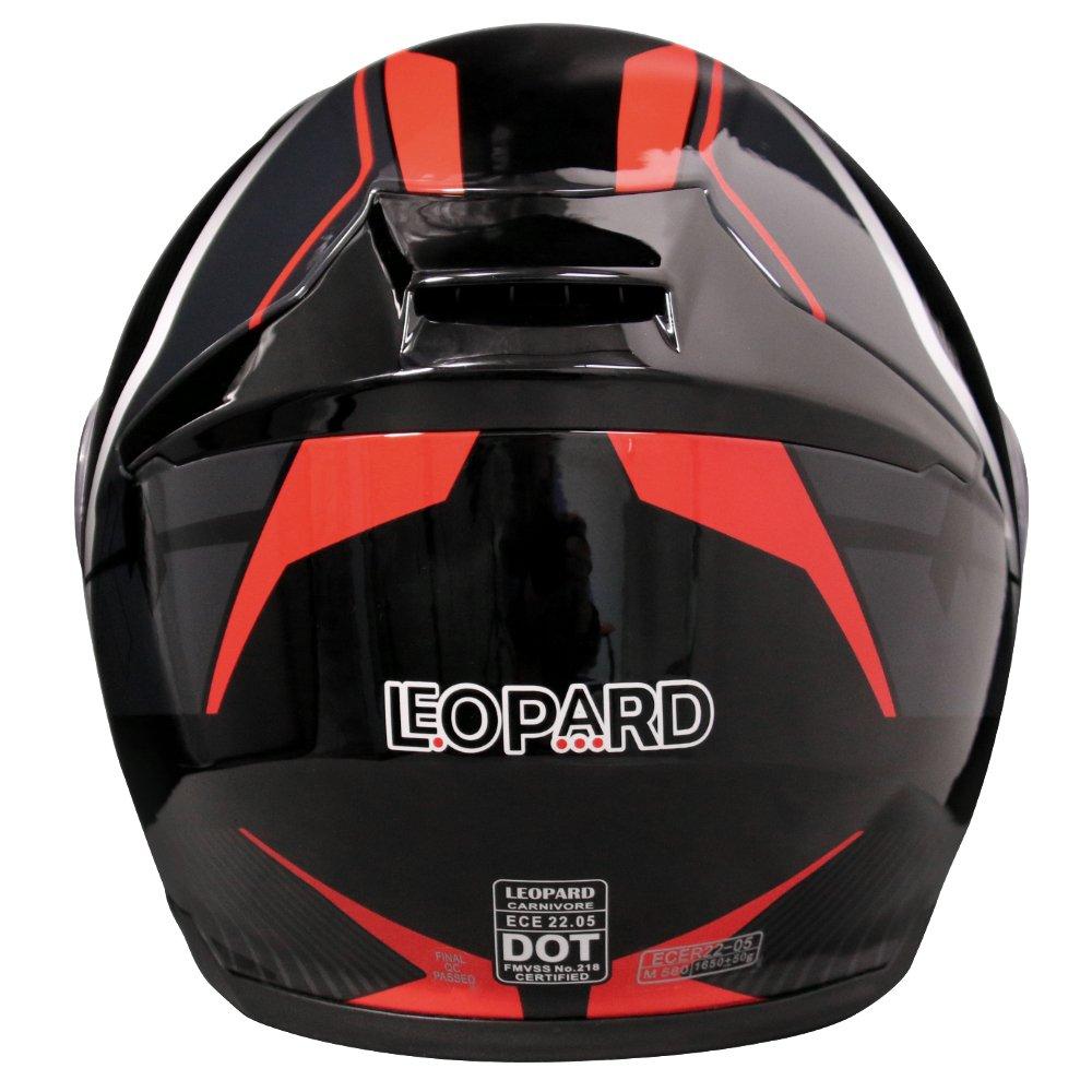 Leopard Klapphelm Integralhelm mit Doppelvisier Motorradhelm