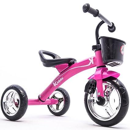 d12daf41b97 Kiddo Pink 3 Wheeler Smart Design Kids Child Children Trike Tricycle Ride-On  Bike 2-5 Years New (Pink)  Amazon.co.uk  Sports   Outdoors