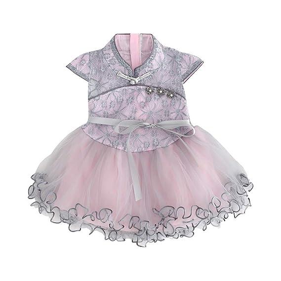 Berimaterry Recien Nacido Niña Vestido de Niña Traje de Tang Estilo ...