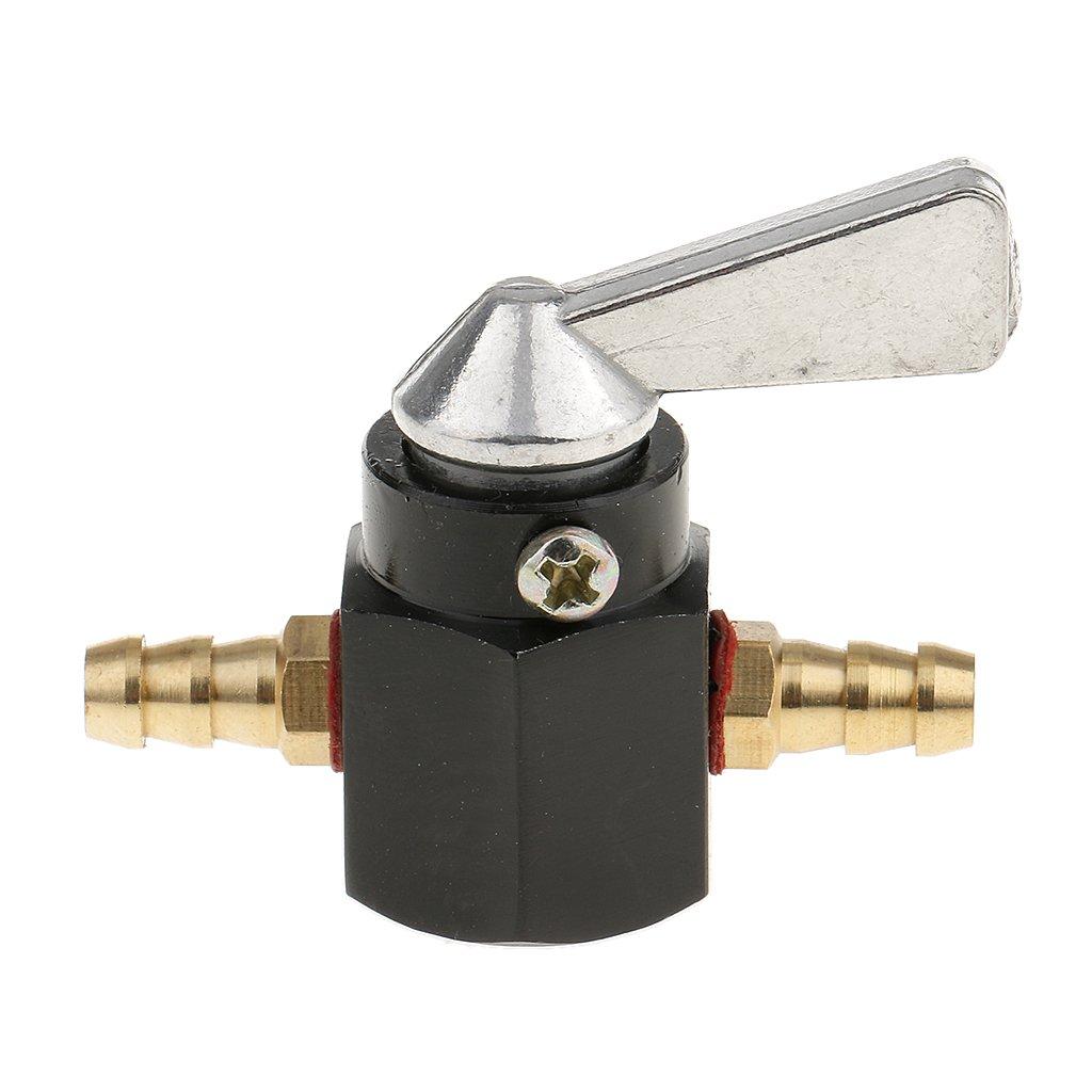 Shiwaki 6mm 1//4  Interruptor De V/álvula De Cierre De Gasolina Y Aceite En L/ínea Para Motocicletas Amarillo