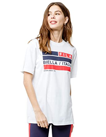 b31d4e4e4560a Image Unavailable. Image not available for. Color: Fila Margarita Oversized  Tee ...