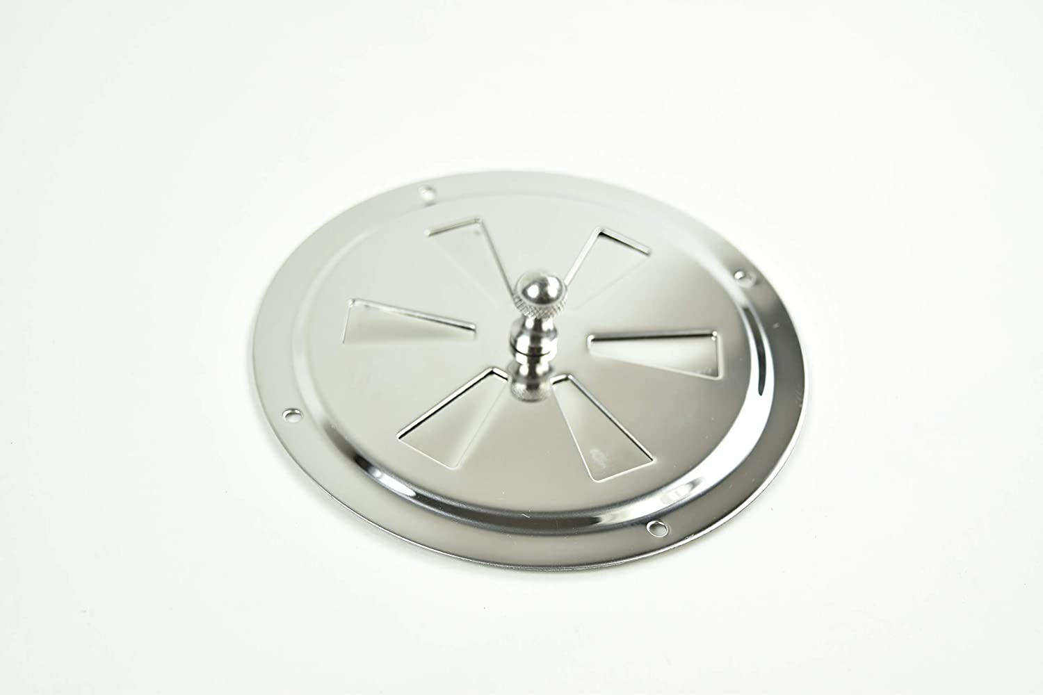 """Diameter:4 inch 5 Center Knob Butterfly Vent Marine City Stainless-Steel 4/"""""""