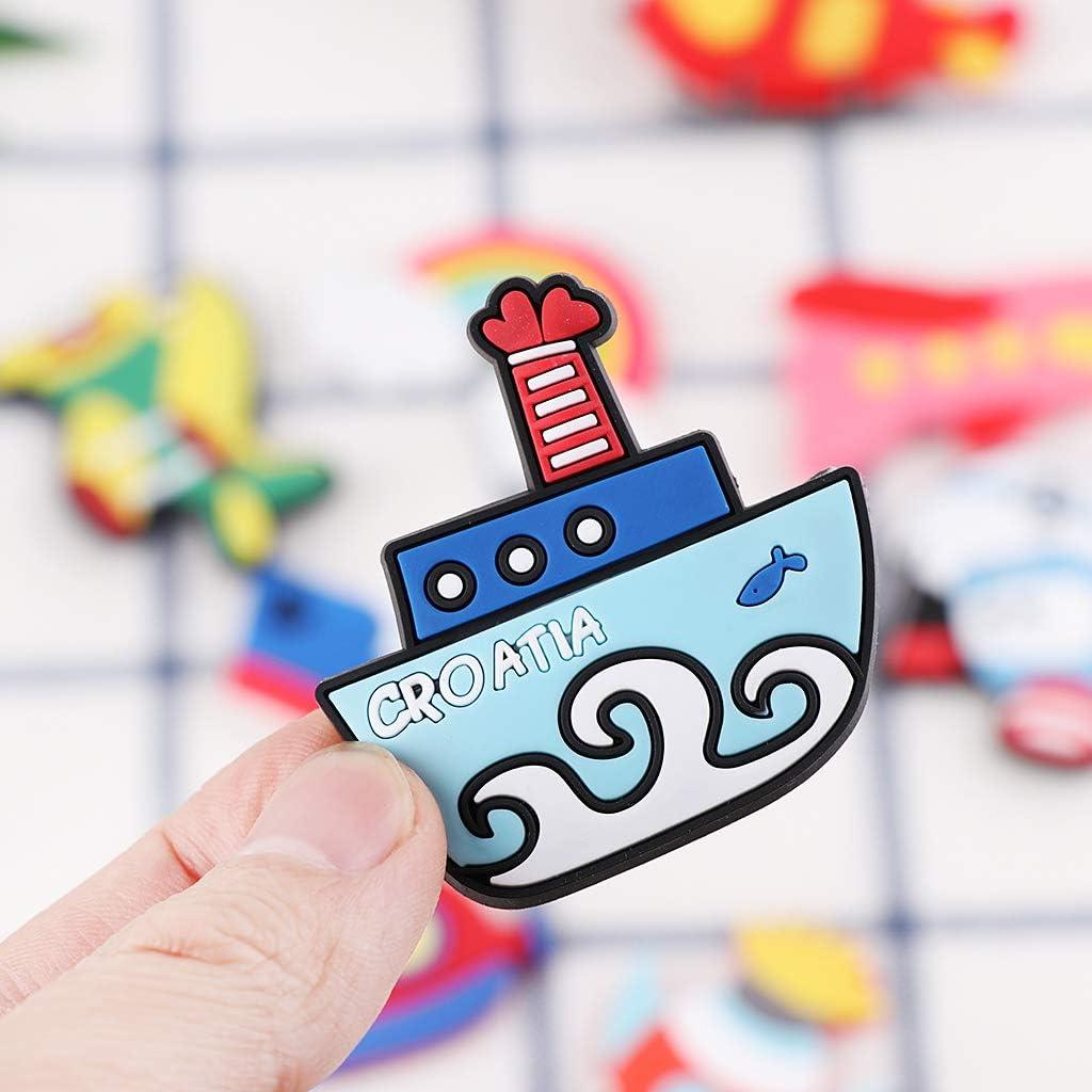 tama/ño peque/ño 10 imanes de nevera con dise/ño de coche creativo para ni/ños decoraci/ón del hogar para actividades infantiles para decoraci/ón de refrigerador de gel de silicona