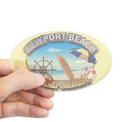 Amazon Com Cafepress Newport Beach Ca Oval Bumper Sticker Euro