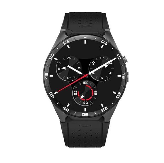 Pantalla Completa de círculo KW88 Reloj Inteligente Android Paso Orientación de frecuencia cardíaca Reloj Inteligente Bluetooth