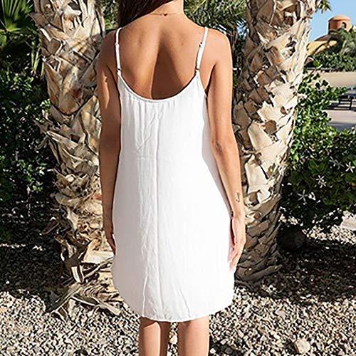 559d0c36a701 Vestito Spaghetti Moda Italily Senza line Dress Elegante Maniche Criss Donna  Mini A Casual Casualenbsp o Abiti ...