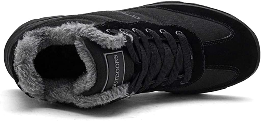 Aurorax 2019 New Womens Warm Fur Lined Ankle Boots Winter Outdoor Anti-Slip Snow Sneaker Waterproof Shoes Booties