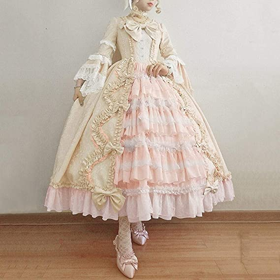 F/_Gotal Womens Rococo Ball Gown Gothic Victorian Dress Costume Gothic Period Ball Gown Reenactment Theater Costumes