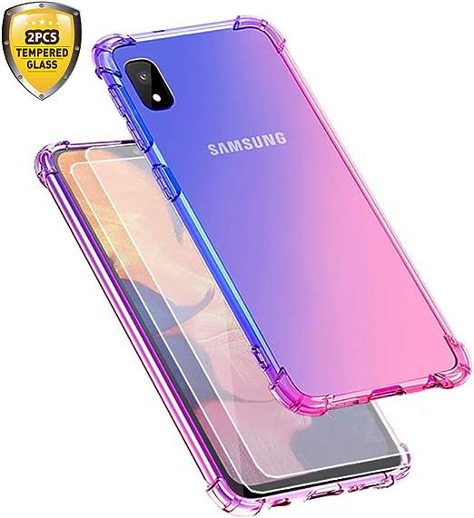 Coque pour Samsung Galaxy A10e Creck Galaxy A10e Coque Crystal Clear Slim Souple TPU Tous les coins Antichoc Protection avec 2 Pcs Protecteur d'écran ...