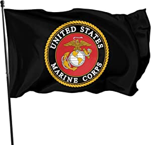 SHISHANGNX US Marine Corps Flag 3x5 Indoor Outdoor Banner Endorses -American Military Armed Forces Home Garden Decorations