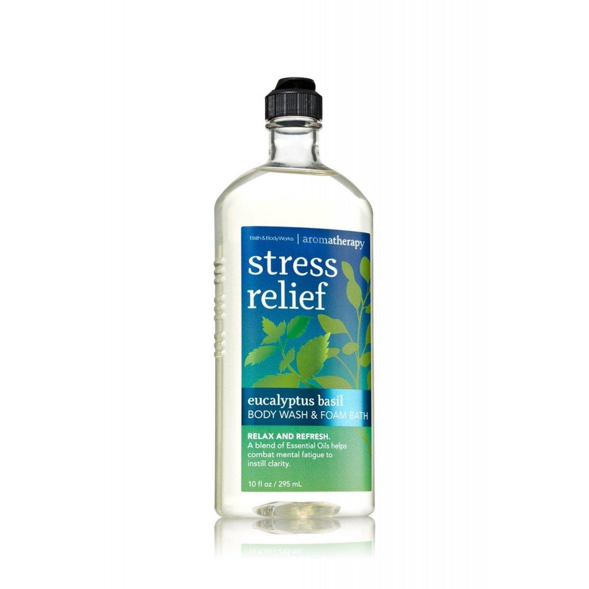 Bath & Body Works Aromatherapy Stress Relief - Eucalyptus + Spearmint Body Wash & Foam Bath, 10 Fl Oz 890221286198