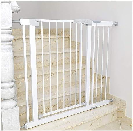 HFYAK Delujo Puertas Escalera para Perros Mascotas Niños Valla Seguridad Divisor Sala Metal Baby Baranda Escaleras Interiores Y Exteriores Balcón O Patio: Amazon.es: Hogar