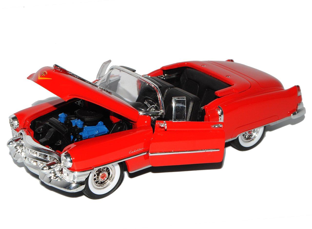 Welly Cadillac Eldorado Cabrio Offen Rot 1953-1966 1//24 Modell Auto mit individiuellem Wunschkennzeichen